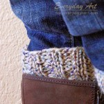 Free Reversible Knit Boot Cuff Pattern