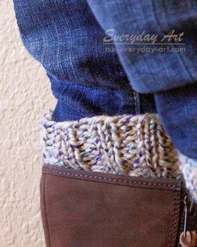 Free Reversible Knit Boot Cuff Pattern
