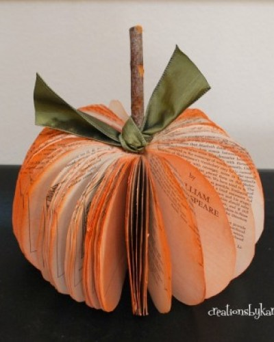 Book Page Pumpkin Tutorial