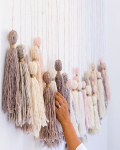 A #DIY Tassel Wall Hanging