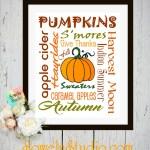 A Fun Fall Freebie ~ Autumn Subway Art Printable