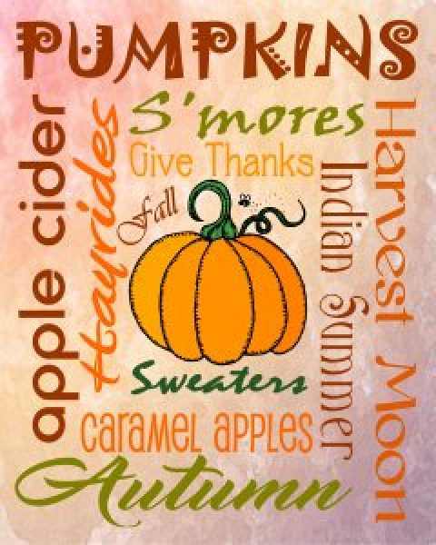 A Fun Fall Freebie ~ Autumn Subway Art Printable
