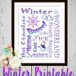Winter Wonderland Printable Subway Art