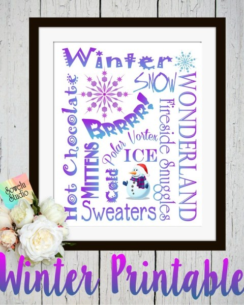 Winter Wonderland Printable Subway Art