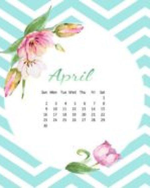 Desktop Wallpaper Calendar ~ April 2017