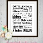 Outlander Subway Art Printable~Free Download!