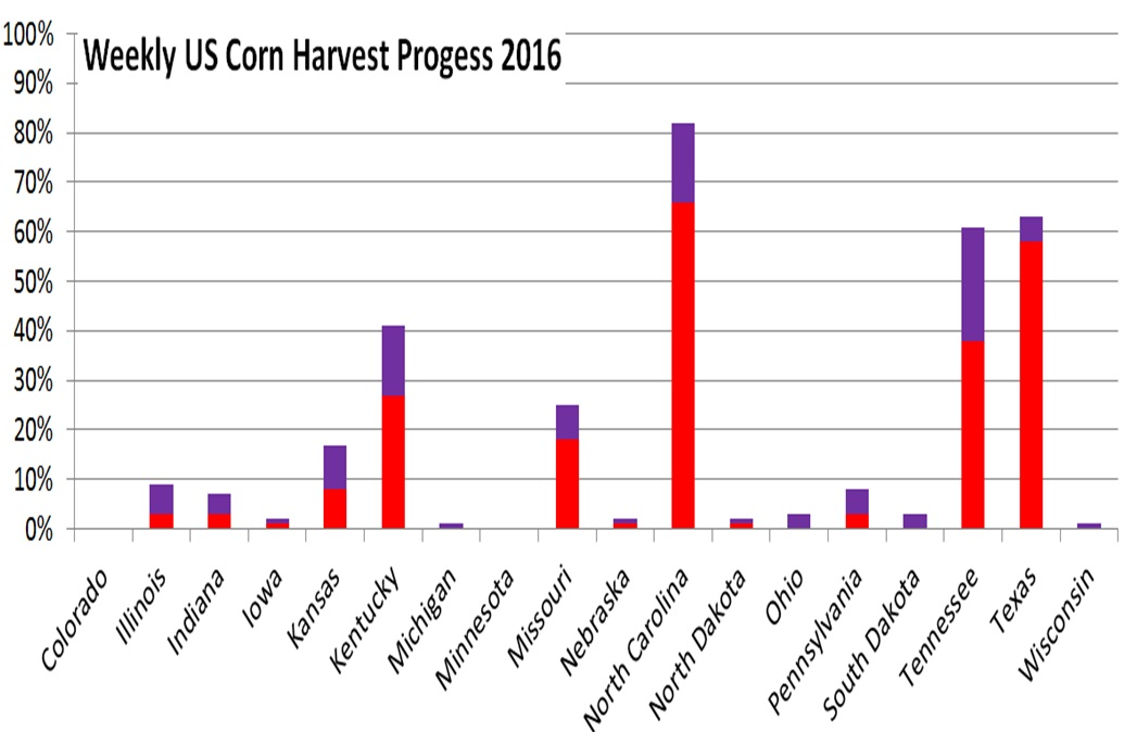 Weekly US Corn Harvest
