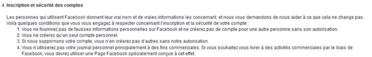 Facebook inscriptions