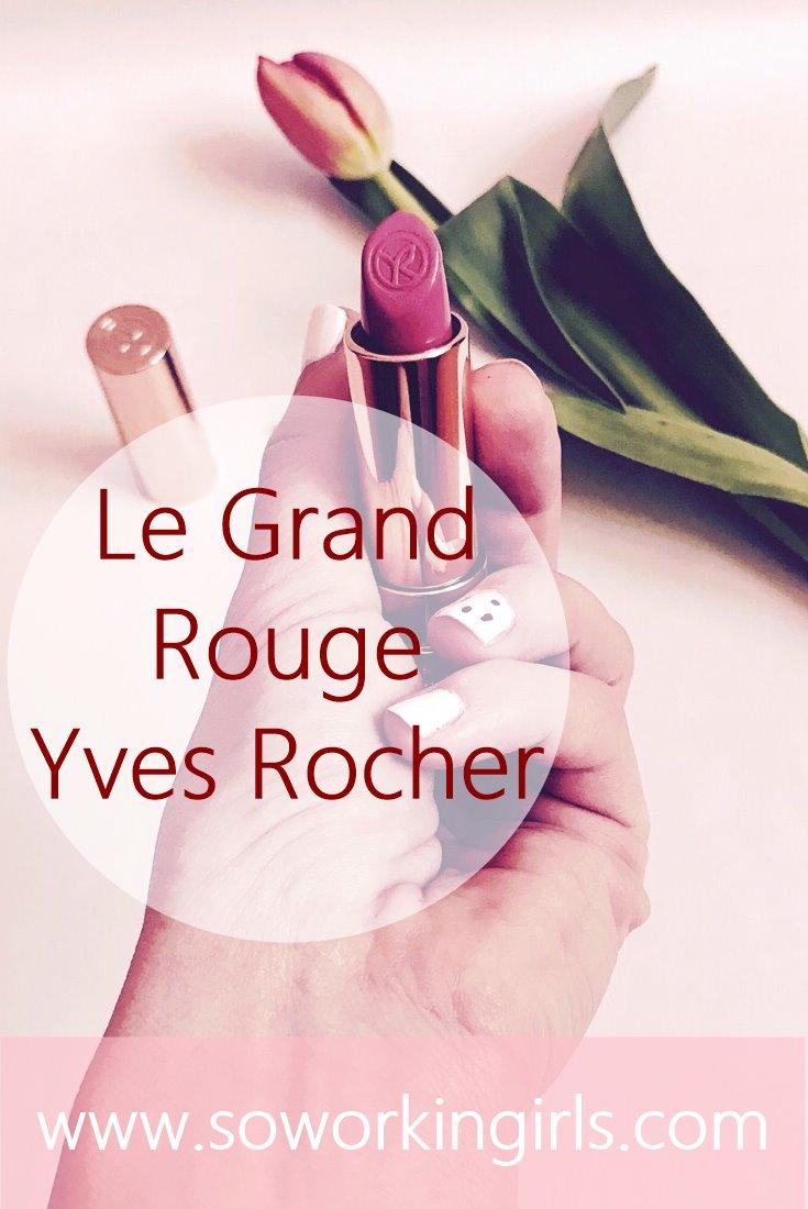 On vous présente le tout nouveau grand rouge de chez Yves Rocher.