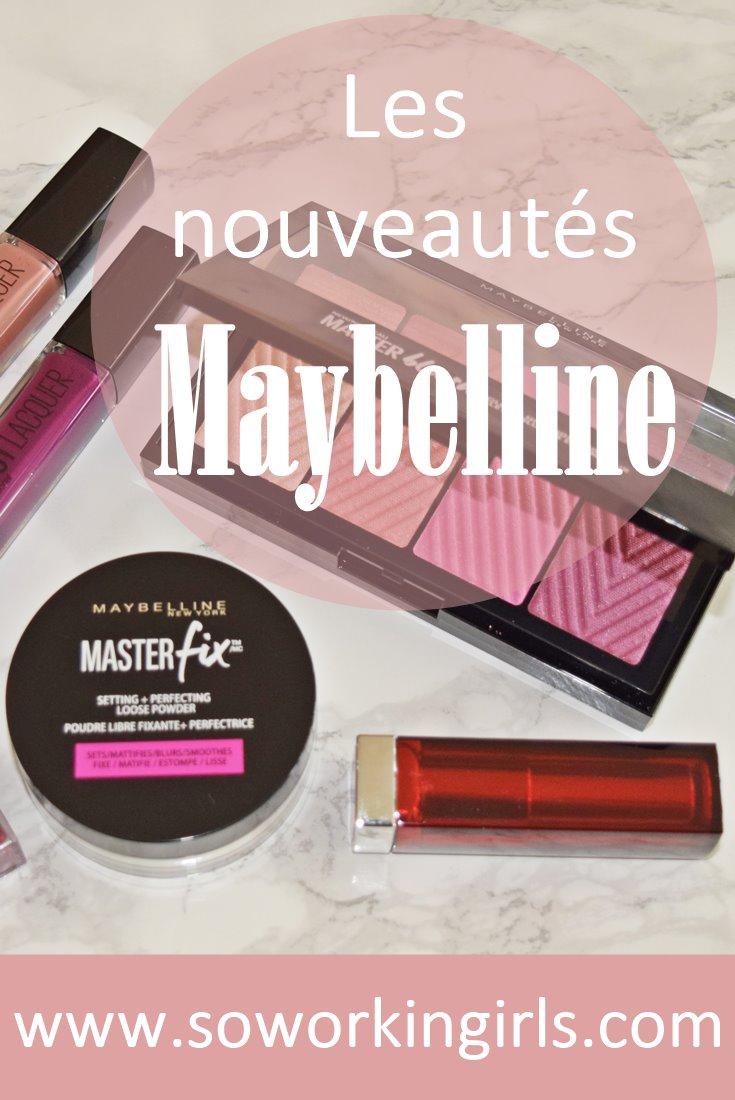 Nous vous présentons les nouveautés make up de chez Maybelline : la palette Masterblush de blushs et highlighters, ainsi que la poudre fixatrice Masterfix