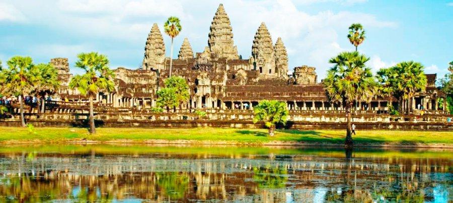 Le palais d'Angkor Wat au Cambodge