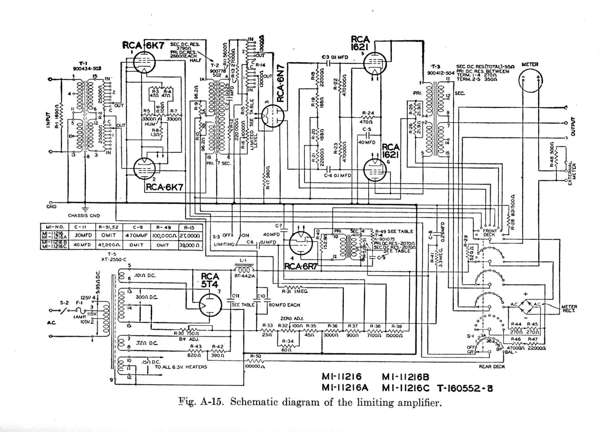 hight resolution of rca 86 al limiting amplifier