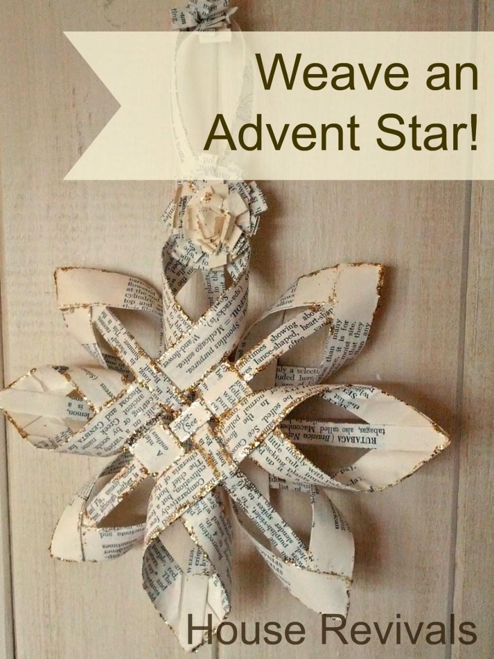advent star weaving tutorial