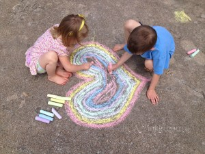 Kids-Chalk-Art heart