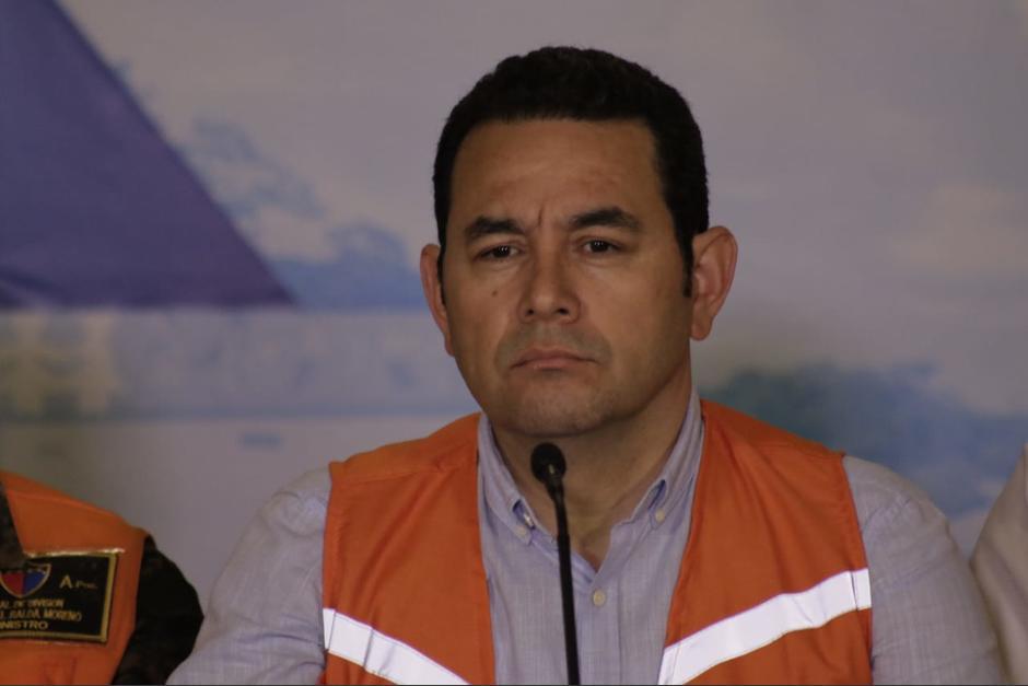 El Presidente reafirmó a todos las autoridades en sus cargos aunque podría haber cambio en función de la evaluación de OEA. (Foto: Alejandro Balán/Soy502)