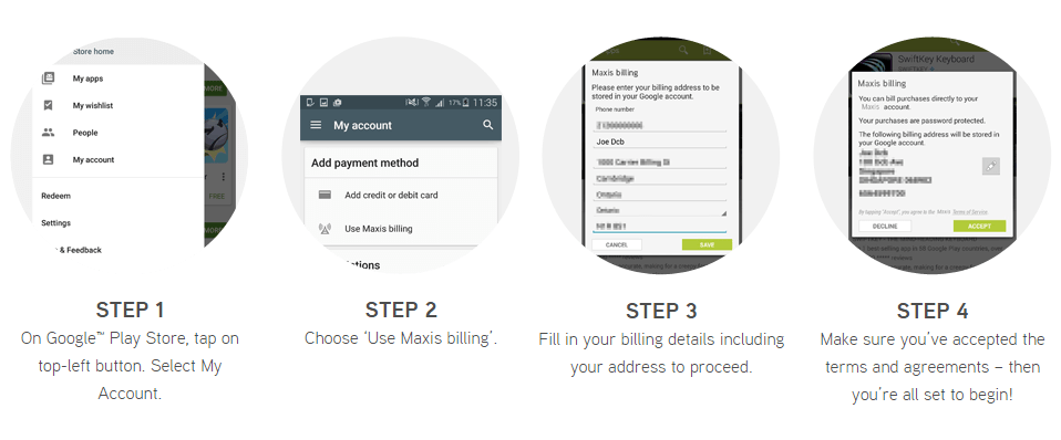 Maxis now adds support for direct billing on the Google
