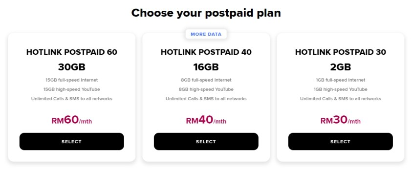 New Hotlink Postpaid Plan