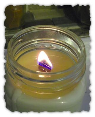 Large wood wick candle test burn 1