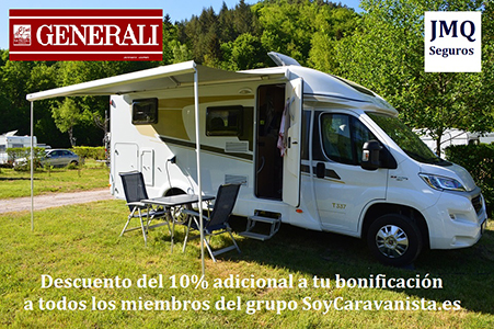 Generali por mediación de JMQ Seguros promociona con el 10% de descuento adicional para asegurar tu Caravana o Autocaravana