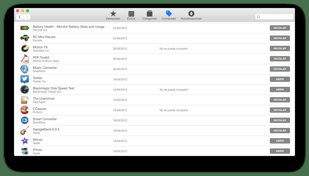 El software sin soporte oficial vuelve a la Mac App Store