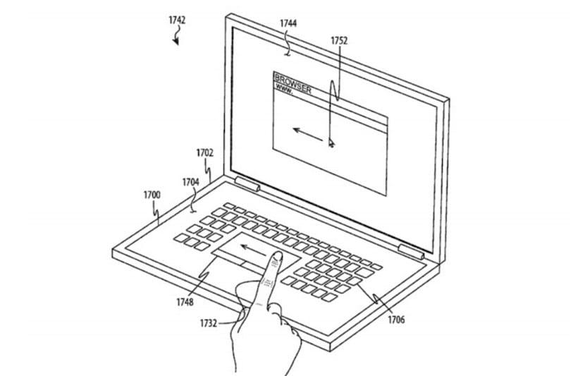 Patente de Apple para un teclado sin teclas físicas con