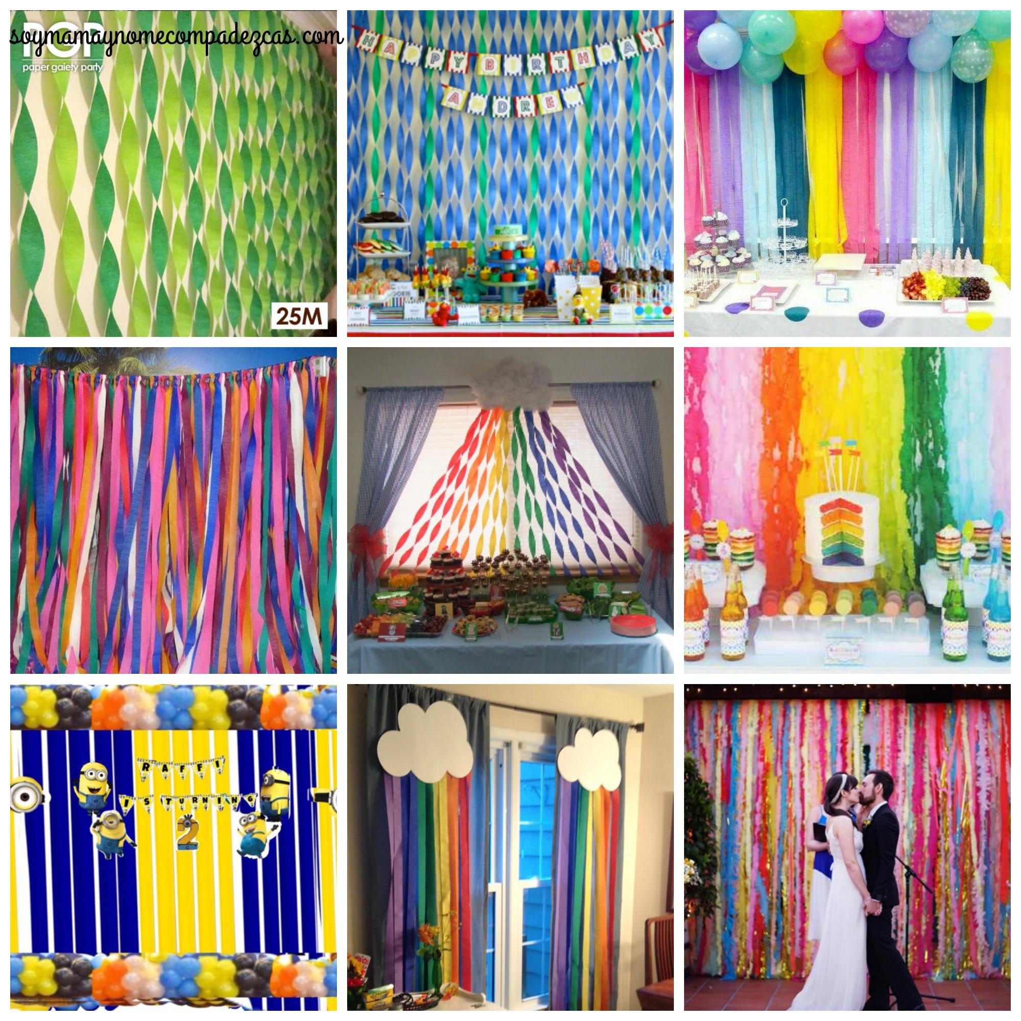 DIY cortina para fiestas  Soy Mam Y No Me Compadezcas