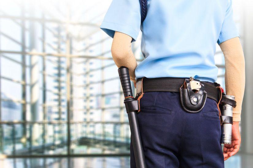 Vigilante de seguridad en obras