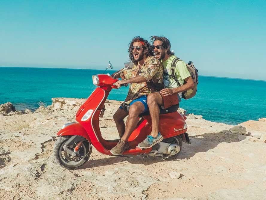 Vespino riders Formentera