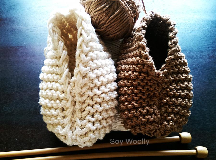 Botitas, patucos, escarpines, zapaticos con dos agujas-Soy Woolly