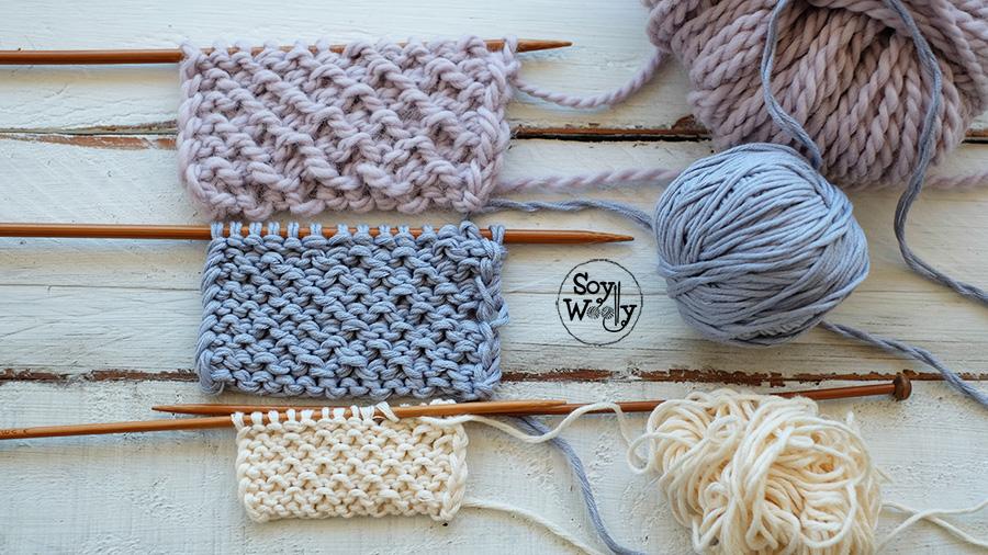 Como tejer puntos tupidos-Soy Woolly
