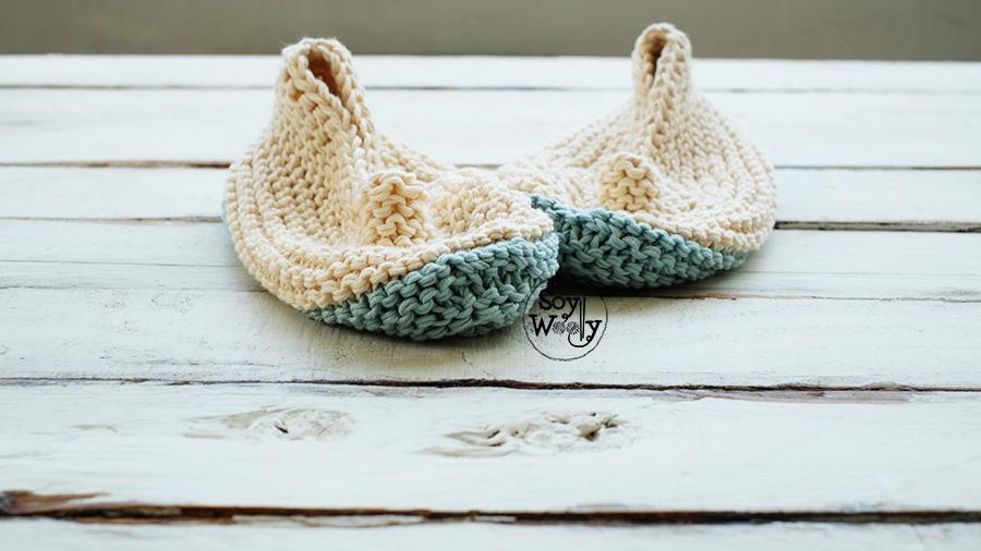 Patucos para adultos faciles en dos agujas tricot calceta