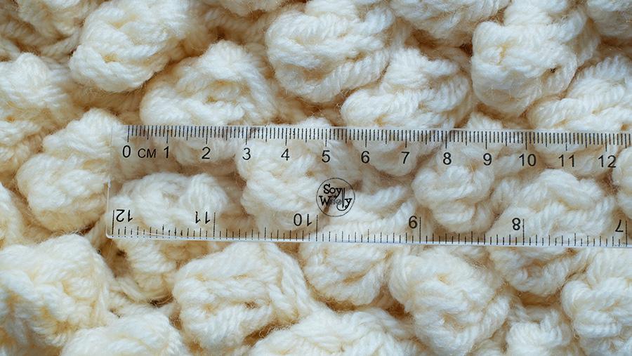 Bodoques tejidos en dos agujas palillos palitos