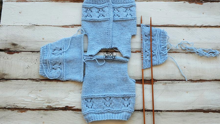 Abrigo para ni os tejido en dos agujas 0 3 y 6 12 meses soy woolly - Tejer chaqueta bebe 6 meses ...