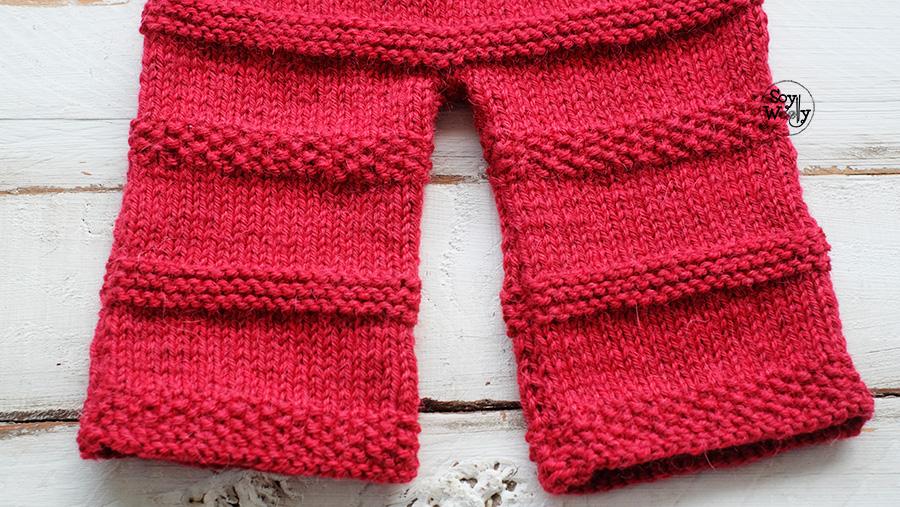 Pantalones para bebe tejidos dos agujas palillos para principiantes