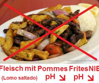 Fleisch mit Pommes Frites NIE, z.B. Lomo Saltado