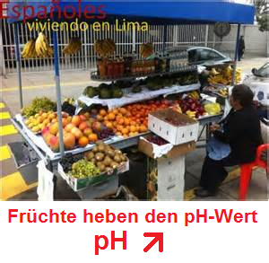Ein Früchtestand - mit Früchten steigt                           der pH-Wert