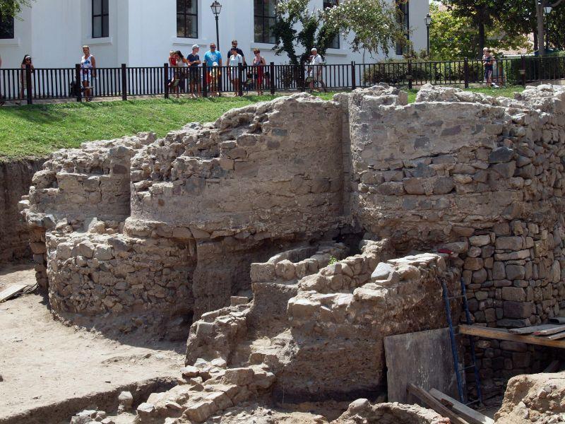 Антична баня откриха археолози в Созопол. снимка БГНЕС
