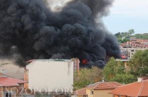 Пушаци от горящото заведение в Созопол
