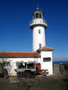 Соларните панели на фара край Созопол - остров Свети Иван