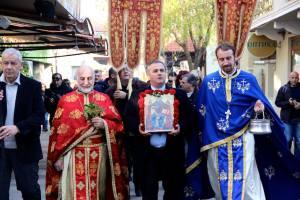 Празничната литургия на път за рибарското пристанище в Созопол 1