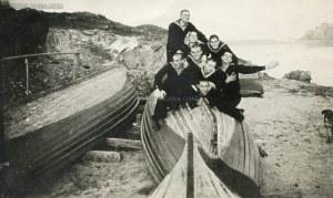 """Остров """"Св. Кирик"""" край Созопол - снимка за спомен на курсантите от Морското машинно училище, намирало се на острова, 1936 г. 1"""