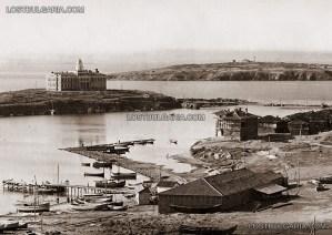 Созопол, заливът с островите Св. Кирик и Юлита (с Рибарското училище) и Св. Иван, след 1927 г. 1