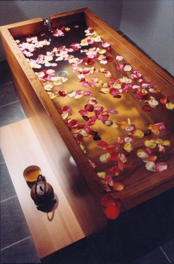 Bain japonais au spa du Beau-Rivage Palace
