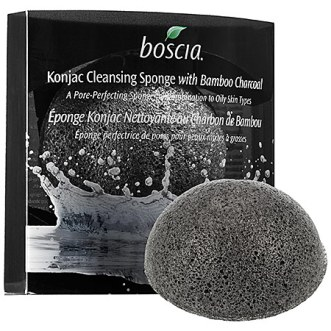 Boscia Konjac Cleansing Sponge with Bamboo Charcoal.