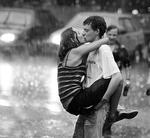 Walking in the rain - the original rain shower head!