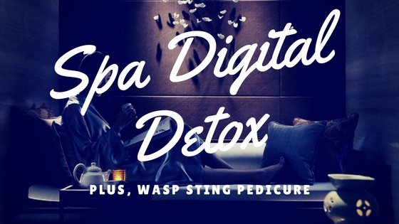 Back to Spa School Digital Detox Reduction Plan. . . plus Bee / Wasp Sting Healing Pedicure