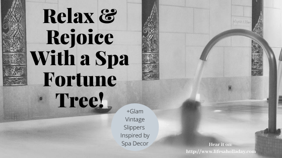 Relax Yourself & Your Holiday Guests with a Spa Fortune Tree inspo by Careys Manor