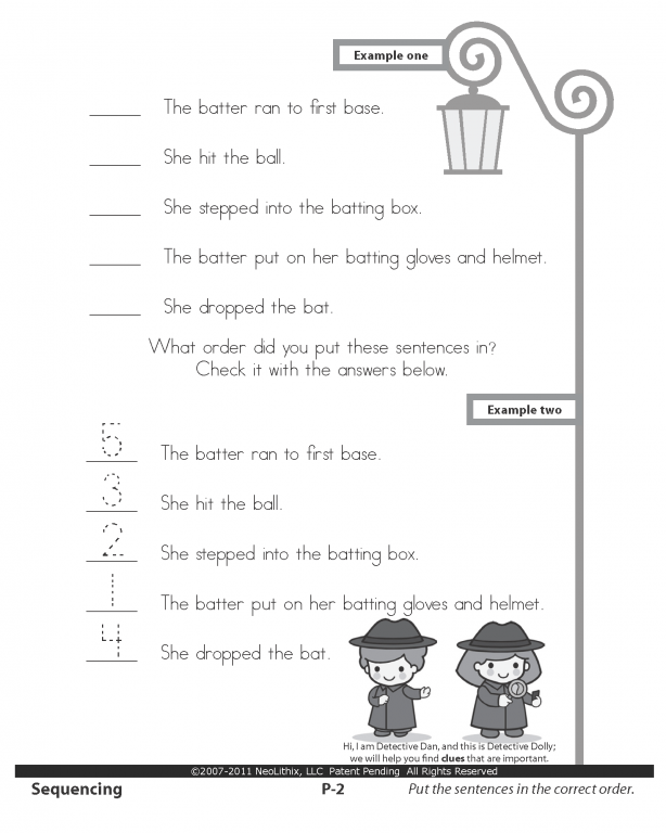 Sample 3rd Grade Language Arts Sequencing, Cause & Effect