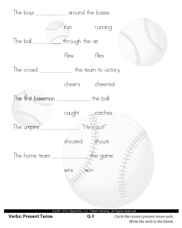 Fourth Grade Language Arts Verbs