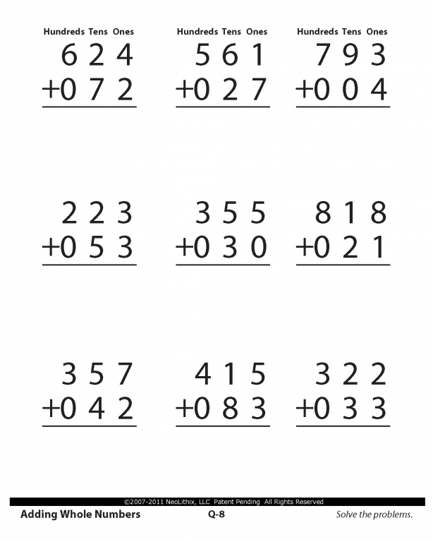 Fifth Grade Math Whole Numbers